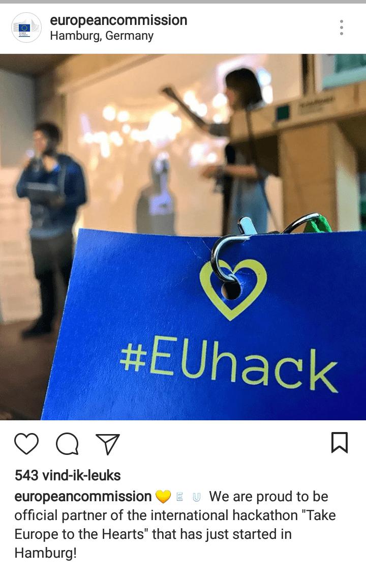 European Commission Instagram Post EuroHack
